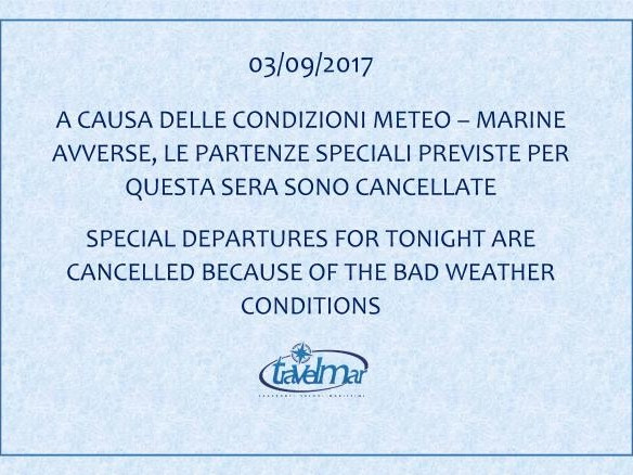 Cancelled special departures